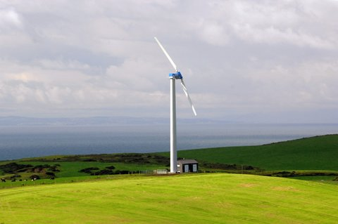 WES 250kW wind turbine installation